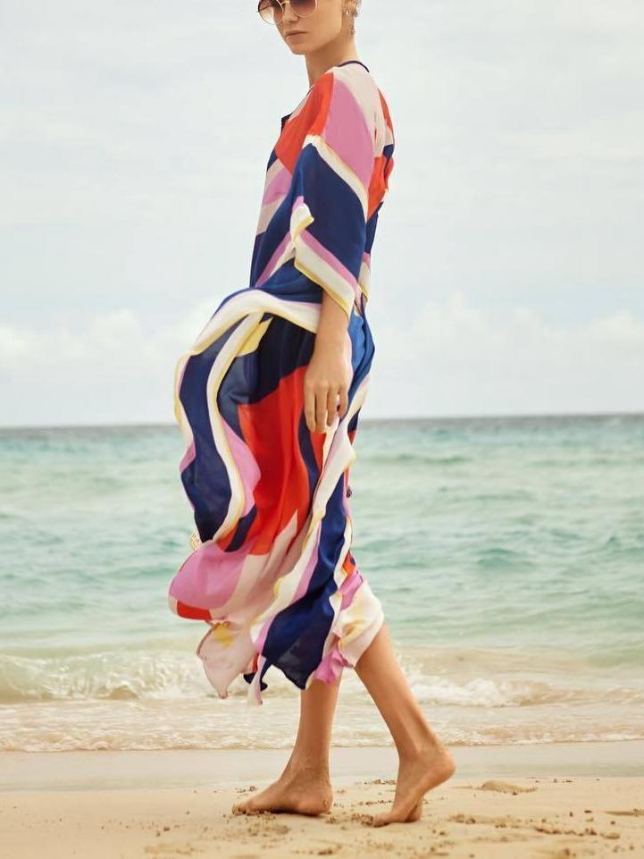 0a79a65caa Floral Long Sleeve Beach Bikini Cover Up Maxi Dress   Products ...