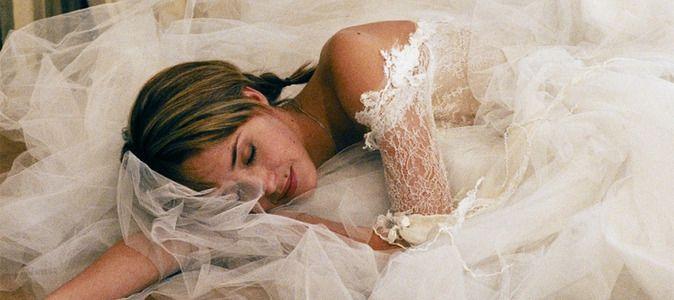 Hélène de Fougerolles en robe de mariée