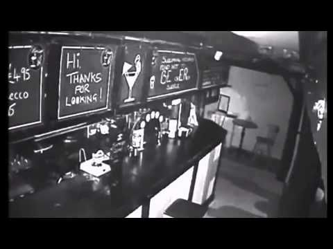 Ghostly' figures throwing glass in pub caught on camera