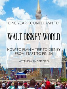 Walt Disney World Countdown - How to Plan a Disney Vacation