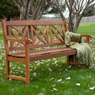 Magnolia Wood Garden Bench