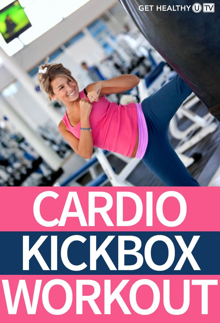 This is a cardio-based workout with simple and effective boxing moves that will get your heart pumping in no time. Constant but not complicated drills including kicks, punches, and blocks will blast fat while boosting your self-confidence. It's a fast-paced cardio kickboxing routine that's easy on your joints.