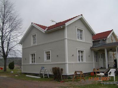 Spets och snor: Nu äntligen lite bilder från vårat nymålade hus