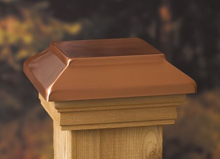 add the look of timeless luxury to your posts with deckorators victoria copper finish plateau fence post capsdeck
