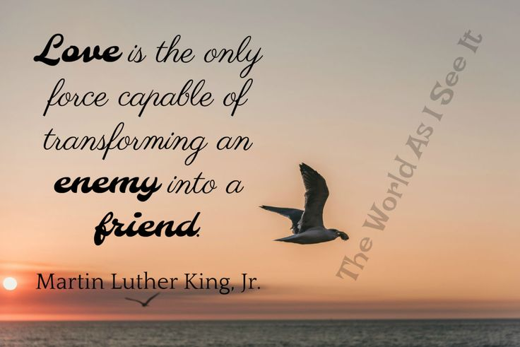 Martin Luther King, Jr. - Quote Of The Week - The World As I See It