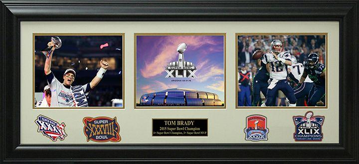 Signature Royale - Tom Brady 2015 Super Bowl Champion Photo Collage Display., $195.00 (http://www.signatureroyale.com/tom-brady-2015-super-bowl-champion-photo-collage-display/)