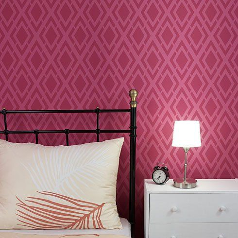 Alexa Allover Wall Pattern - reusable stencil patterns for walls just like wallpaper - DIY decor