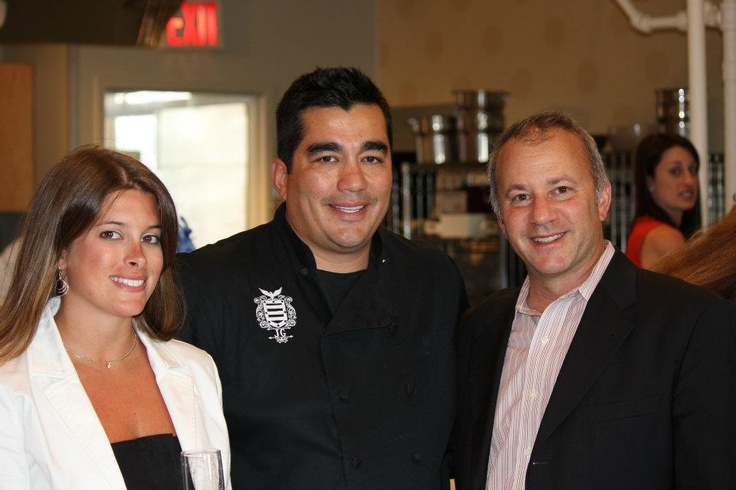 Brooke Everett of the Garces Group, Chef Jose Garces and Rick Smilow, President of the Institute of Culinary Education