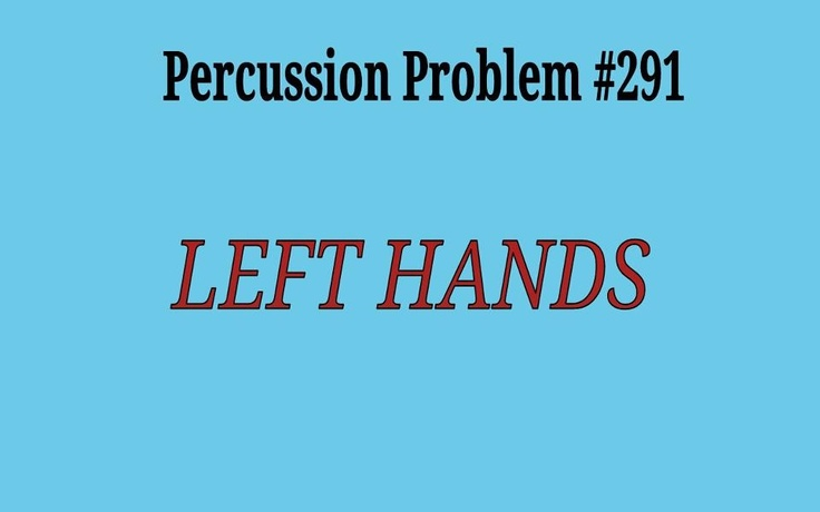 Percussion Problems