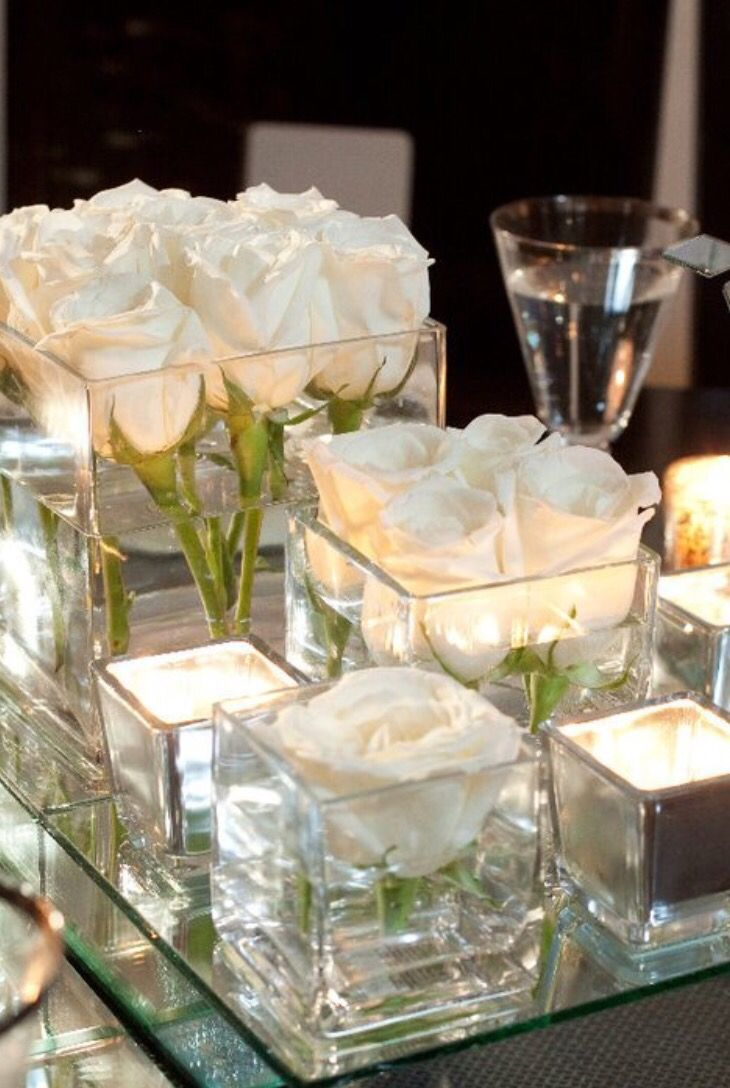 We have square vases in small medium and large sizes to