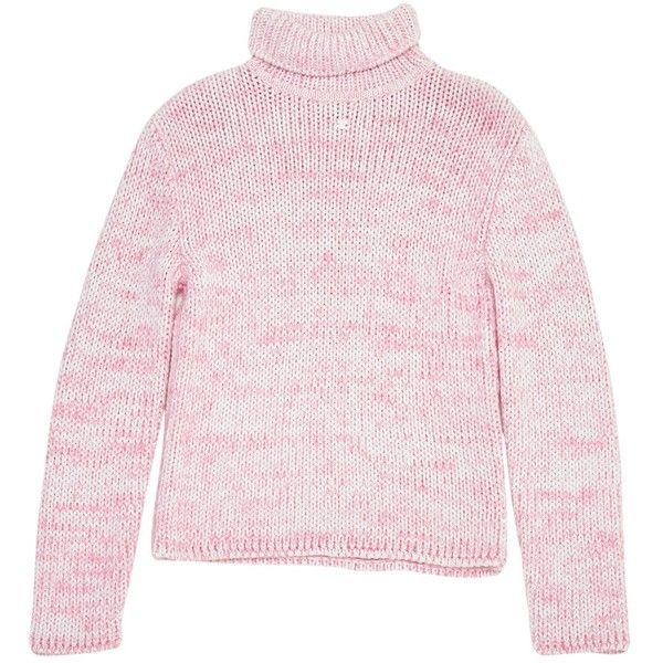 Pre-owned Courreges Jumper ($163) ❤ liked on Polyvore featuring tops, sweaters, pink, pink sweater, jumper top, jumpers sweaters, pink top and pink jumper
