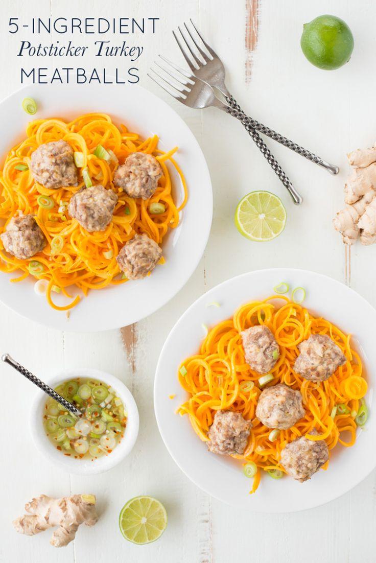 5Ingredient Potsticker Turkey Meatballs in 2020 Real