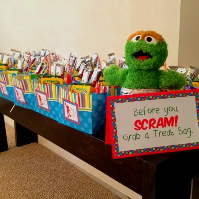 Sesame Street Treat Bags With Oscar