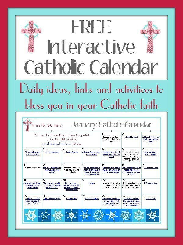 January Catholic Family Calendar