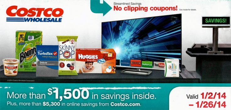 Costco Coupon Book - January 2014