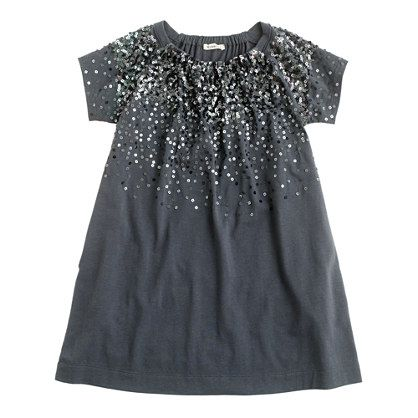 Girls' sequin splash dress by J Crew- Pi would love the sparkles