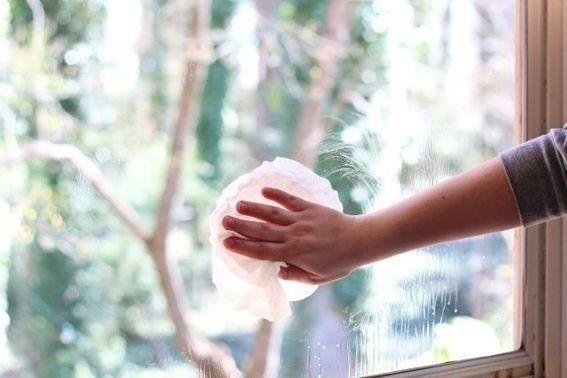 Грязные стекла легко очистит разрезанная пополам луковица