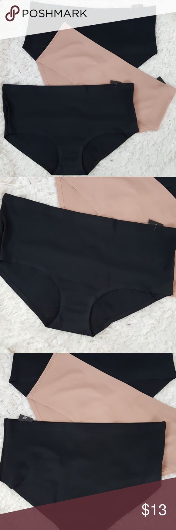 Sale 3 Laser Cut Hipster brief panty Sale sale sale sale  Bundle of 3 NO LINE laser cut briefs   Hipster panties in a size xlarge, soft and comfortable! 90 % polyamide  10% spandex.  Please check out my bra & panty SALES!! Intimates & Sleepwear Panties