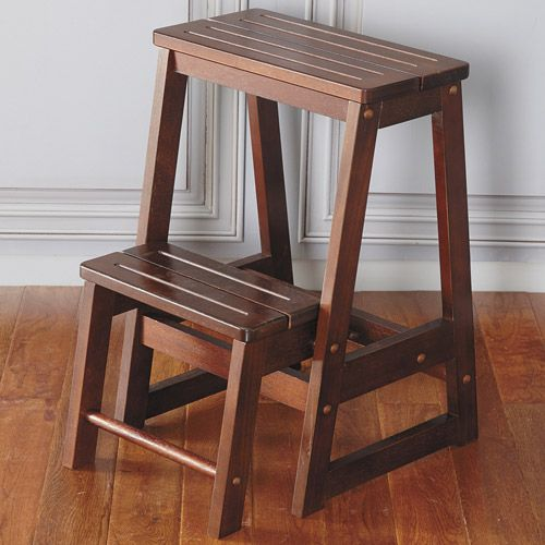 Wooden Kitchen Step Stool ~ Wooden kitchen step stool plans woodworking projects
