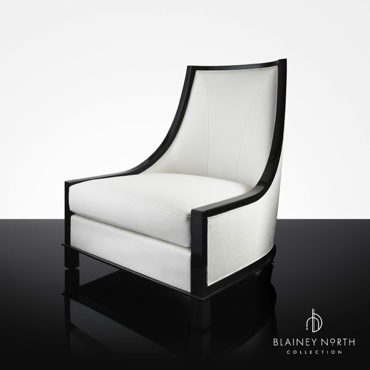 Blainey North Furniture High Back Black White Chair