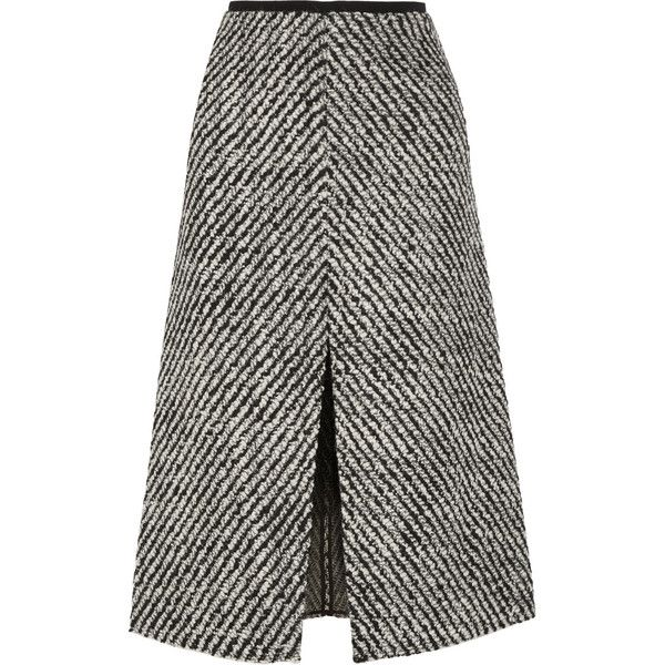 Isabel Marant Inko tweed skirt ($335) ❤ liked on Polyvore featuring skirts…