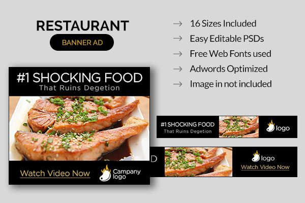 Diet Web Ad Banners