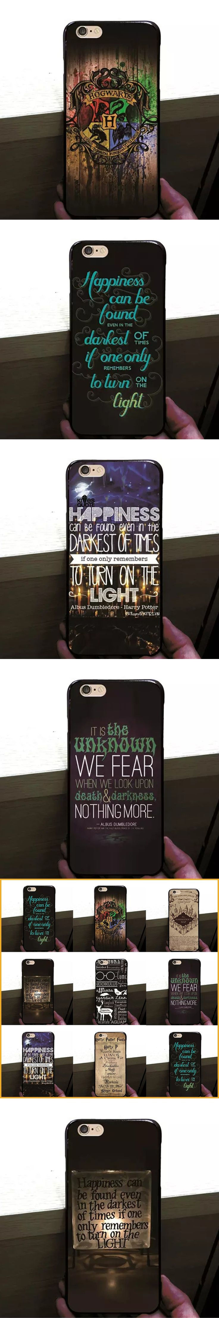 Harry Potter Castle Mystery Letters Pattern Hard PC Case Cover for iPhone 5 se 6 6splus 7 7plus Cellphone Bag Capa Coque MN843