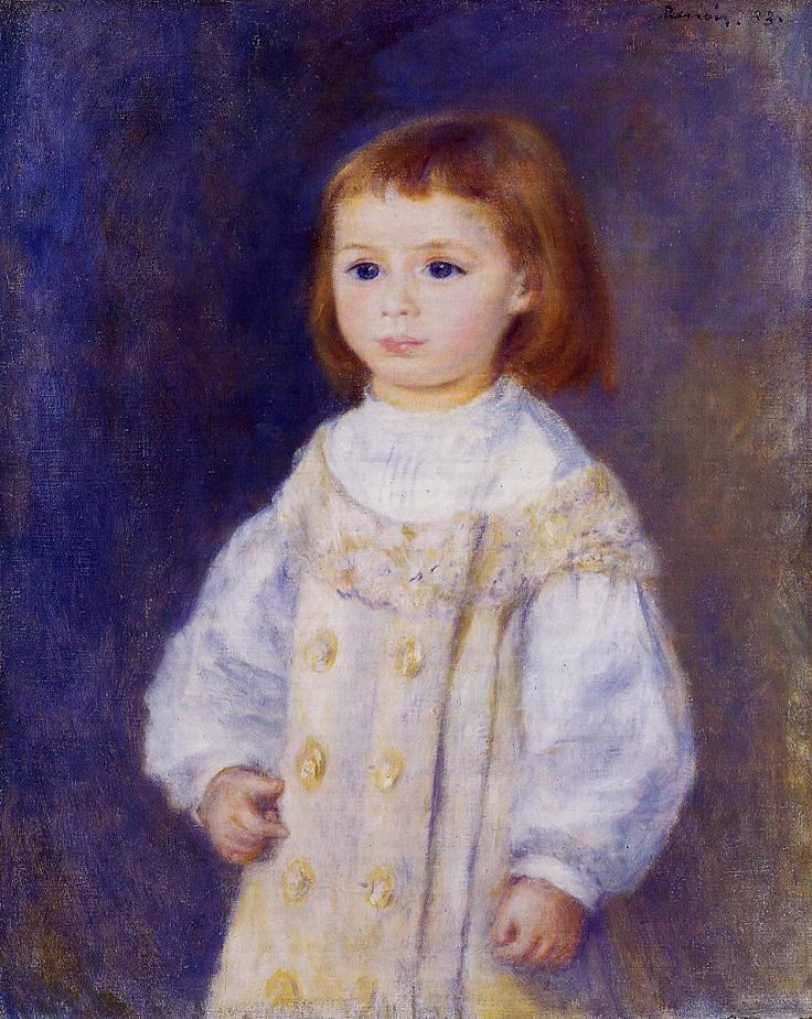 Child in a White Dress (aka Lucie Berard) 1883 | Pierre Auguste Renoir | Oil Painting