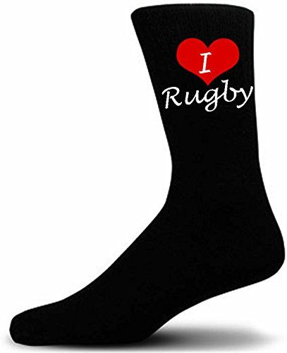 From 1.99:I Love Rugby Sports Novelty Socks. Black Luxury Cotton Sports Novelty Socks.