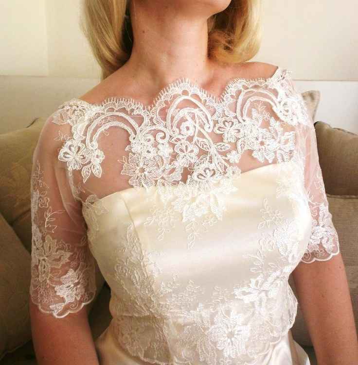 26 best images about wedding shrugs boleros blouses on for Designer bolero