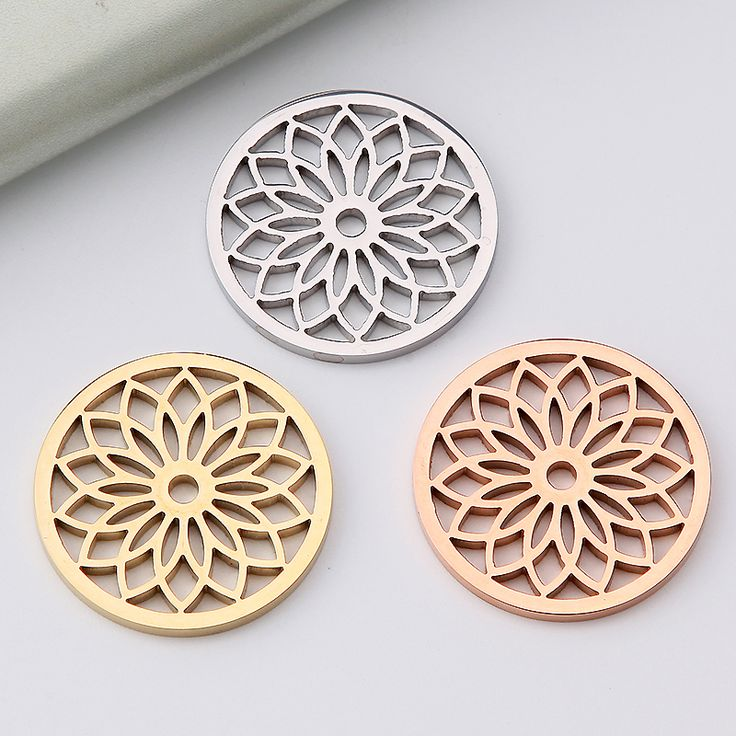 My Coin 33mm Stainless Steel Big Flower Mi Moneda Disc