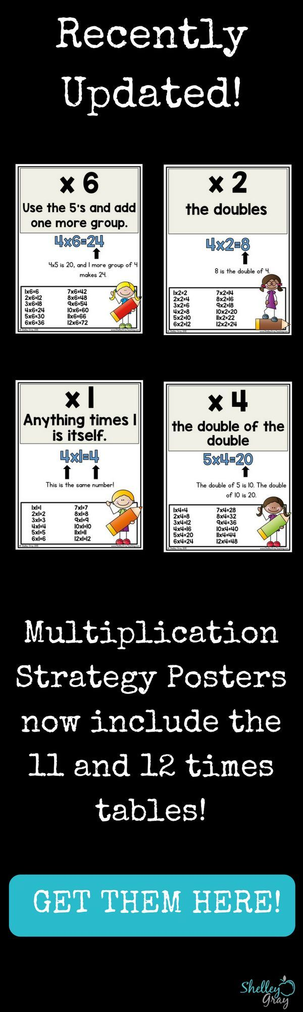 "Multiplication facts are so important. When students do not know their multiplication facts, it makes many skills more difficult as they progress to higher grade levels (long division, area, etc.)   I believe in teaching STRATEGY when it comes to multiplication. Strategies are like ""tools"" that students can use to solve an equation. When he sees an equation, he grabs the proper ""tool"" from his ""toolbox"" to ensure that he can solve the equation effectively and efficiently."