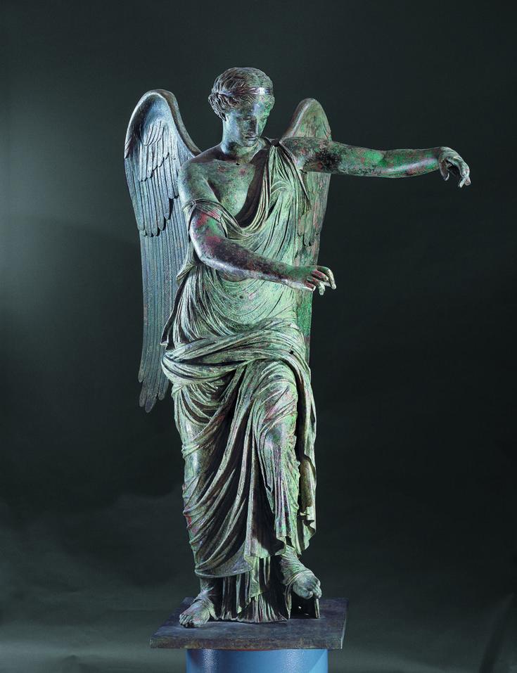 Ancient Rome - honorthegods:   Winged Victory. Roman, Bronze,...