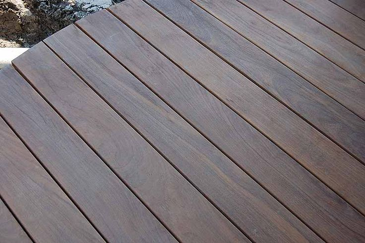 Charcoal Grey Deck Stain Ipe Decking With Plugs To Cover