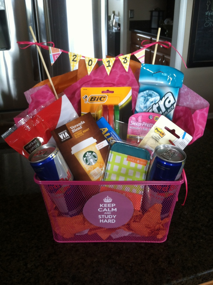 Graduation Gift Basket What All Students Need College