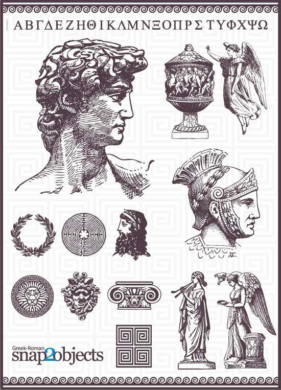 греческий алфавит, бюст, юноша, войн, легионер, чаша, сосуд, амфора, шлем, боги, статуи, символы, знаки, лавровый венок, рисунок, контур, эскиз,EPS, формат,AI, SVG