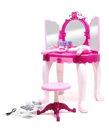 This My Little Princess Light-Up Makeup Mirror is perfect! #zulilyfinds