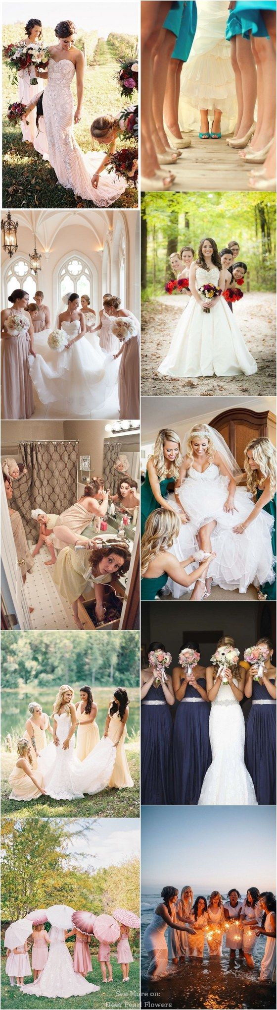 Ideas for Wedding Photos With Your Bridesmaids / www.deerpearlflow… – Pure NZ Weddings