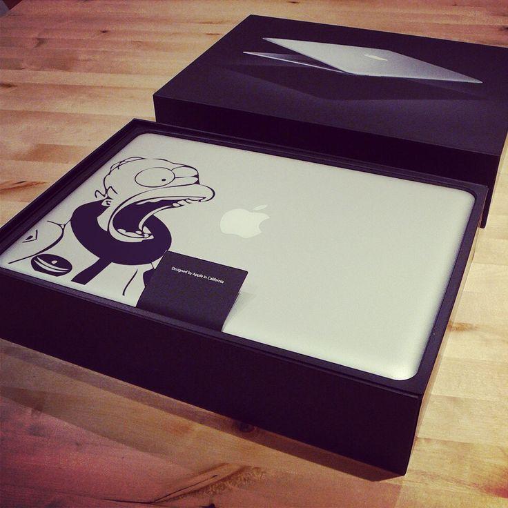 #decal #macbook #apple #vinyl #stickers #simpson #homer #astronaut #mattgroening #macstickers #consolle #applemac #decalmacbook http://bit.ly/DecalHomerAstronaut