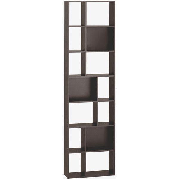 Tall Narrow Bookshelf Narrow Bookcase In Cleo Black