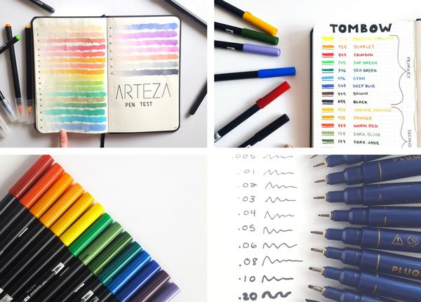 If you are anything like me, you use colors to organize EVERYTHING when bullet journaling. I use them to separate events, due dates, decorate with doodles, and add color to my layouts. I know how awesome adding color to my bullet journal is, so I wanted to share with you my top 6 colored pens for bullet journaling.