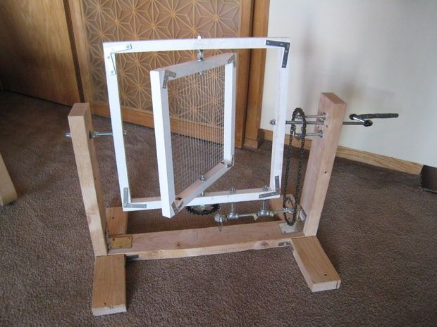 Make A Rotational Casting Machine  For Under $150. This can cast hollow shapes in resins such as urethane.