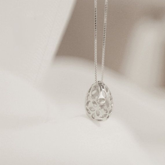 Sterling Silver Pendant Style 25 Hollowed Out Easter by ATHiNGZ, $6.99