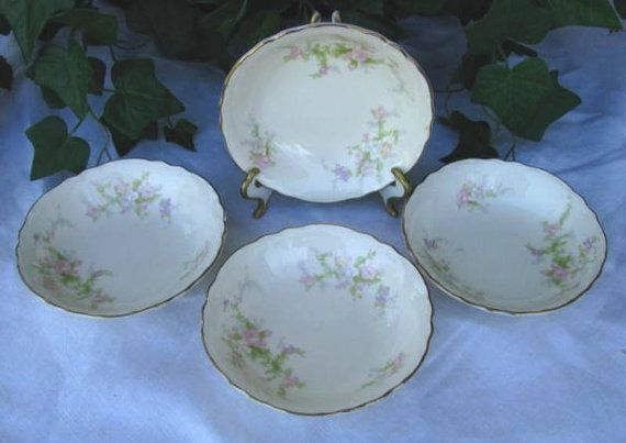 9 best china antique vintage images on pinterest dish dishes and homer laughlin jean fruit dessert bowls shabby cottage chic 40s dinnerware china bowls pink flowers fandeluxe Image collections
