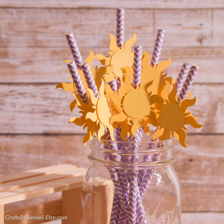 Tangled Straws, Rapunzel Straws, Sun Straws, Rapunzel Party, Tangled Party, Princess Party, Summer Pool Party, Beach Party,  Pack of 10! by CraftsByBiessel on Etsy https://www.etsy.com/ca/listing/285411303/tangled-straws-rapunzel-straws-sun