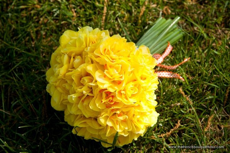 Vintage Yellow Narcissus Bridal Bouquet - The French Bouquet - Artworks Tulsa Photography