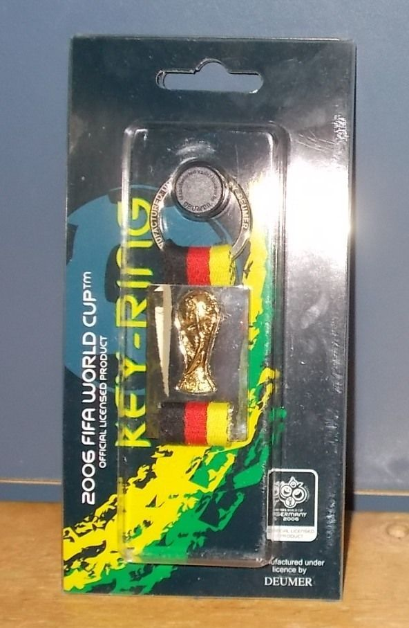 FIFA 2006 World Cup Germany World Cup Trophy Keyring Keychain Fob German Flag  | eBay