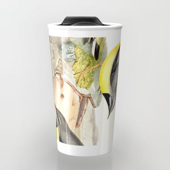 Grey wagtail Travel Mug