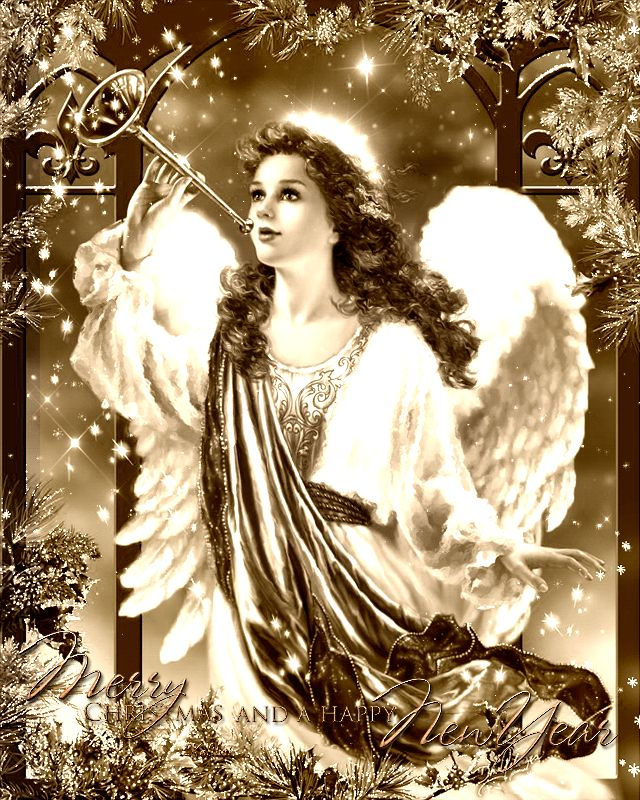 Новогодний ангел картинки гиф
