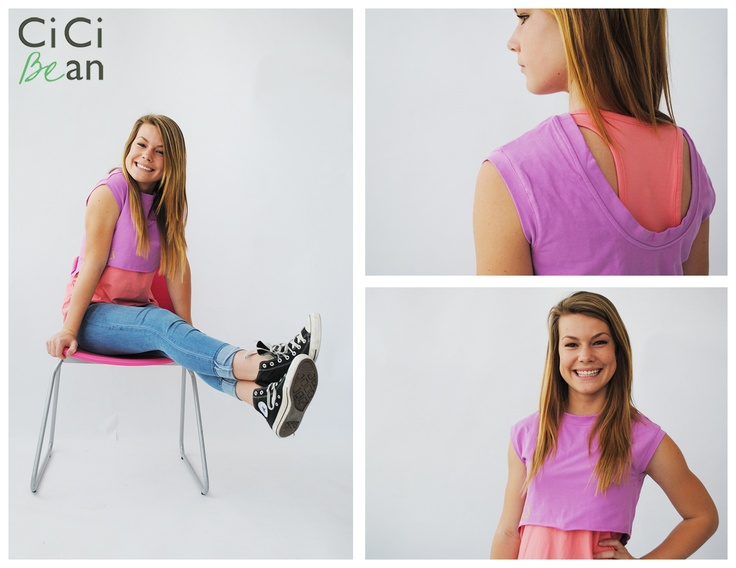 How perfect is the Favourite Tunes Tee for spring & summer? A separate cropped top & tank top make this a super versatile tee. Available in Peach & Cornflower blue. | CiCi Bean - clothing for tween girls. | www.letyourheartbeyourguide.blogspot.ca